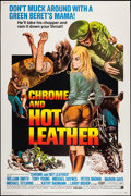 """Movie Posters:Exploitation, Chrome and Hot Leather & Other Lot (American International,1971). Poster (40"""" X 60"""") & Insert (14"""" X 36""""). Exploitation..... (Total: 2 Items)"""