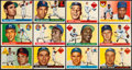 Baseball Cards:Sets, 1955 Topps Baseball Partial Set (72/206) With HoFers and High Numbers. ...