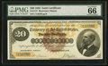 Large Size:Gold Certificates, Fr. 1177 $20 1882 Gold Certificate PMG Gem Uncirculated 66 EPQ.....