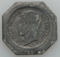 Belgium, Belgium: A Group of lead 20 Centime and Franc Uniface Trials1859,... (Total: 4 coins)