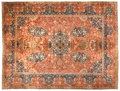 Rugs & Textiles:Carpets, AN INDIAN AGRA WOOL RUG . Late 19th/early 20th century. 18 feetlong x 14 feet wide (548 x 426 cm). PROPERTY FROM A PRIVAT...