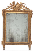 Decorative Arts, French, A LOUIS XVI-STYLE PAINTED GILT WOOD MIRROR. 19th century. 45 incheshigh (114.3 cm). PROPERTY FROM A PRIVATE TEXAS...