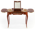 Furniture : French, A LOUIS XV-STYLE MARQUETRY DRESSING TABLE. Early 20th century. 28 x33 x 16 inches (71.1 x 83.8 x 40.6 cm). PROPER...