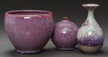 Ceramics & Porcelain, American:Contemporary   (1950 to present)  , THREE EARTHGENDER POTTERY VASES . Robert Maxwell (American, b.1932) and David Cressey (American) Earthgender Pottery, El Seg... (Total: 3 Items)