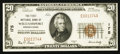 National Bank Notes:Pennsylvania, Williamsport, PA - $20 1929 Ty. 1 The First NB Ch. # 175. ...