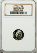 Proof Roosevelt Dimes: , 1960 10C PR69 Cameo NGC. NGC Census: (115/0). PCGS Population(77/0). Numismedia Wsl. Price for problem free NGC/PCGS coin...