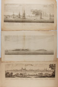Art:Illustration Art - Mainstream, [Engraving]. Group of Three Original Copper Engravings ca. 1748. 21.75 x 12 inches. One by Muller, others unknown. Some toni...