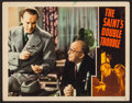 """Movie Posters:Mystery, The Saint's Double Trouble (RKO, 1940). Lobby Card (11"""" X 14"""").Mystery.. ..."""