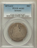 Seated Half Dollars: , 1873-CC 50C Arrows AG3 PCGS. PCGS Population (5/211). NGC Census:(0/88). Mintage: 214,560. Numismedia Wsl. Price for probl...