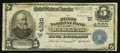 National Bank Notes:Wyoming, Rawlins, WY - $5 1902 Plain Back Fr. 601 The First NB Ch. # (W)4320. ...