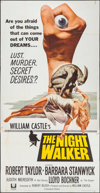 "The Night Walker (Universal, 1965). Three Sheet (41"" X 79""). Horror"