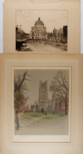 Art:Illustration Art - Mainstream, Cecil Aldin. SIGNED. Ely Cathedral Cambridgeshire.Chromolithograph. Signed in pencil by artist. Measures 20 x 2...