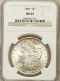 Morgan Dollars: , 1889 $1 MS65 NGC. NGC Census: (1982/210). PCGS Population(1714/210). Mintage: 21,726,812. Numismedia Wsl. Price forproble...