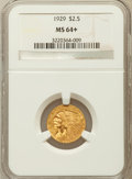 Indian Quarter Eagles: , 1929 $2 1/2 MS64+ NGC. NGC Census: (2740/234). PCGS Population(1617/127). Mintage: 532,000. Numismedia Wsl. Price for prob...