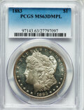 Morgan Dollars: , 1883 $1 MS63 Deep Mirror Prooflike PCGS. PCGS Population (232/336). NGC Census: (94/189). Numismedia Wsl. Price for proble...