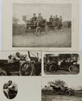Miscellaneous:Ephemera, [Post cards]. Group of Four Photo Postcards Depicting Turn of theCentury Automobiles. Post cards measure 5.5 x 3.5 inches. ...