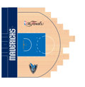 Basketball Collectibles:Others, 2011 Dallas Mavericks Court Section from NBA ChampionshipSeason....