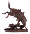 Sculpture, A PATINATED BRONZE SCULPTURE, AFTER FREDERIC REMINGTON: THE WICKED PONY. (American, 1861-1909), 20th century . Marks...