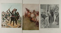 [Lithographs]. Group of Three Popular Lithographic Reproductions. Includes The Nation Makers by Howard Pyl