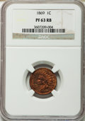 Proof Indian Cents: , 1869 1C PR63 Red and Brown NGC. NGC Census: (11/82). PCGS Population (25/115). Mintage: 600. Numismedia Wsl. Price for prob...