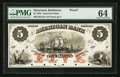 Obsoletes By State:Maryland, Baltimore, MD- The American Bank $5 18__ Proof. ...