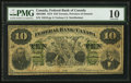 Canadian Currency: , Toronto, ON- The Federal Bank of Canada $10 July 1, 1874 Ch. #300-10-06. ...