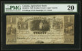 Canadian Currency: , Toronto, UC- Agricultural Bank $4 Jan. 1, 1836 Ch. # 20-12-02-12....