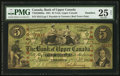 Canadian Currency: , York, UC- Bank of Upper Canada $5 Jan. 1, 1861 Ch. # 770-22-06-08a....