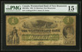 Canadian Currency: , Moncton, NB- The Westmoreland Bank of New Brunswick $1 Aug. 1, 1861 Ch. # 800-12-02a. ...