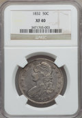 Bust Half Dollars: , 1832 50C Small Letters XF40 NGC. NGC Census: (121/1725). PCGSPopulation (220/1679). Mintage: 4,797,000. Numismedia Wsl. Pr...