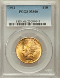 Indian Eagles: , 1932 $10 MS66 PCGS. PCGS Population (94/1). NGC Census: (173/7).Mintage: 4,463,000. Numismedia Wsl. Price for problem free...