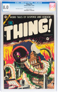 Golden Age (1938-1955):Horror, The Thing! #15 (Charlton, 1954) CGC VF 8.0 Cream to off-white pages....