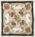 "Luxury Accessories:Accessories, Hermes Brown, Green & Neutral ""Chevaux de Cirque,"" by HugoGrygkar Silk Scarf. ..."