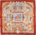 "Luxury Accessories:Accessories, Hermes Special Issue Red & Beige ""Reverie Pompeienne,"" byLaurence Bourthoumieux Silk Scarf. ..."