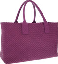 Luxury Accessories:Bags, Bottega Veneta Purple Intrecciato Nappa Leather Cabat Tote Bag. ...