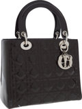 Luxury Accessories:Bags, Christian Dior Brown Patent Leather Cannage Lady Dior Tote Bag. ...