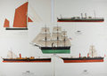 Art:Illustration Art - Mainstream, [Hugh Evelyn]. Various Artists. Group of Five Nautical Hugh EvelynLithographs. Printed in the Netherlands. Average size is ...