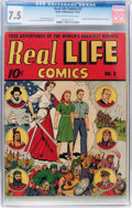 Golden Age (1938-1955):Non-Fiction, Real Life Comics #2 (Nedor Publications, 1941) CGC VF- 7.5Off-white to white pages....