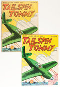 Golden Age (1938-1955):War, Tailspin Tommy #1 Group (Service Publications, 1946).... (Total: 2Comic Books)