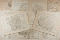 Art:Illustration Art - Mainstream, [Engraving]. Group of Eleven Original Engraved Maps. Maps date from1787, prints nd. Lightly toned. Minor scattered foxing. ...