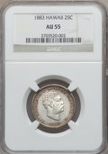 Coins of Hawaii: , 1883 25C Hawaii Quarter AU55 NGC. NGC Census: (61/966). PCGSPopulation (102/1243). Mintage: 500,000. ...
