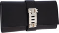 Luxury Accessories:Bags, Hermes 29cm Black Calf Box Leather Medor Clutch Bag with PalladiumHardware. ...
