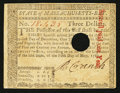 Colonial Notes:Massachusetts, Massachusetts May 5, 1780 $3 Hole Cancel Very Fine-Extremely Fine.....