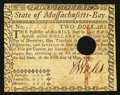 Colonial Notes:Massachusetts, Massachusetts May 5, 1780 $2 Hole Cancel Very Fine-Extremely Fine.. ...