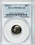 Proof Roosevelt Dimes: , 1976-S 10C PR70 Deep Cameo PCGS. PCGS Population (129). NGC Census:(7). Numismedia Wsl. Price for problem free NGC/PCGS c...