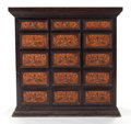Furniture , AN INDO-PORTUGUESE TEAK CONTADOR. 19th century. 26 x 27 x 16-1/2 inches (66.0 x 68.6 x 41.9 cm). ...
