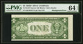 Error Notes:Miscellaneous Errors, Fr. 1613N $1 1935D Narrow Silver Certificate. PMG Choice Uncirculated 64 EPQ.. ...