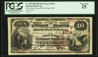 Portland, OR - $10 1882 Brown Back Fr. 484 The United States NB Ch. # (P)4514