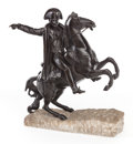 Sculpture, A BRONZE EQUESTRIAN STATUE OF NAPOLEON. 20th century . Marks to base: CANOVA. 22-1/2 inches high (57.2 cm). ...