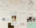 Autographs:Celebrities, [Autographs]. Group of Twenty-One Celebrity Autographs. Includessignatures from Rosemary Clooney, Joan Collins, Jacquelin...